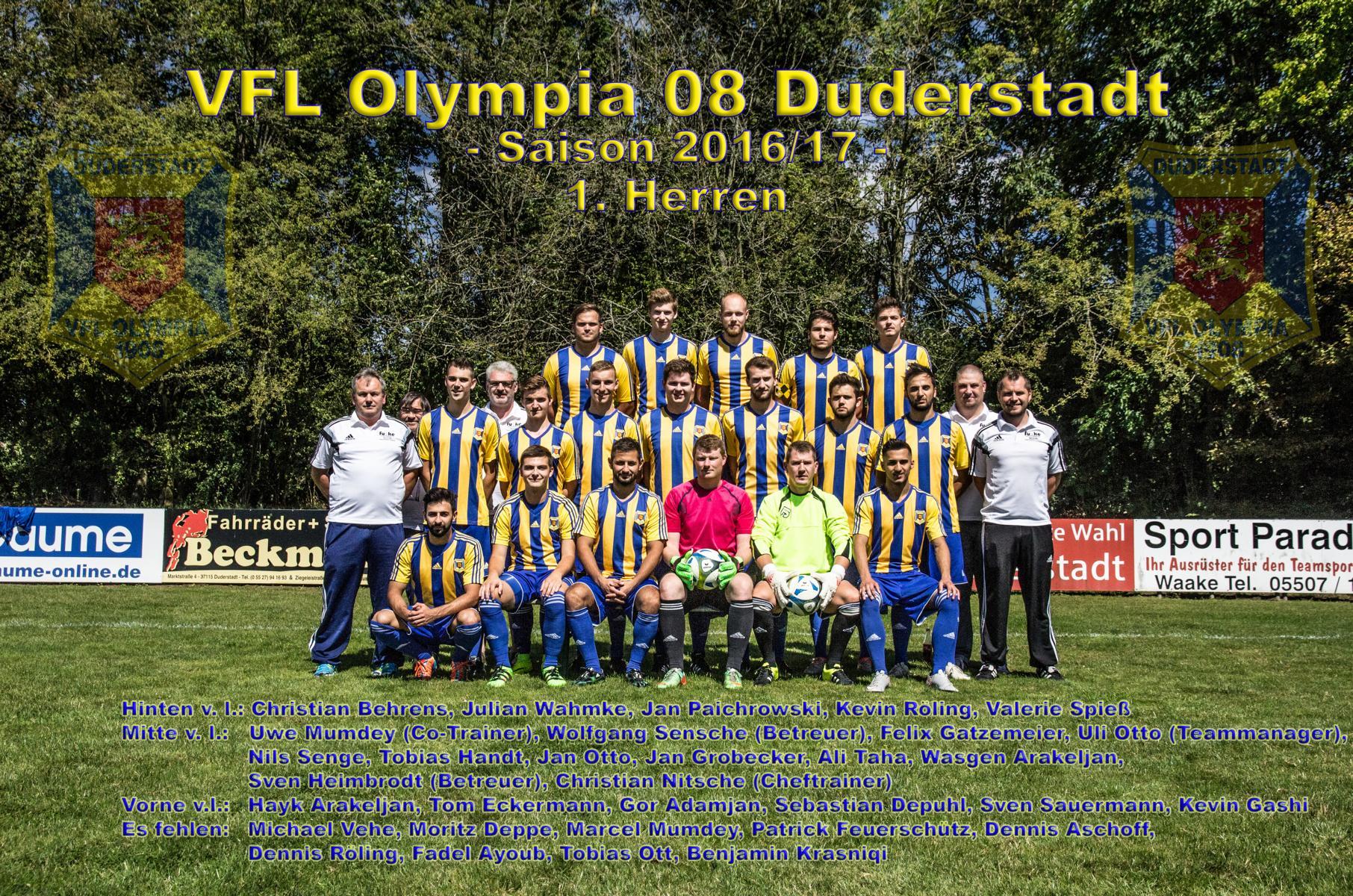 K1600_Mannschaftsfoto 1. Herren saison 1617 fertig